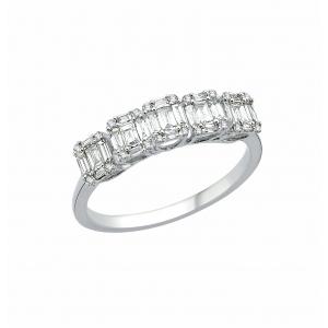 Inel logodna aur 18k incurstat cu diamante 0.40 G SI