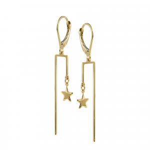 Cercei aur 14K star