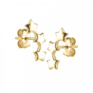 Cercei aur 14K starshine