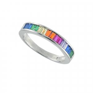 Inel argint zirconiu rainbow -  Argint Zirconiu