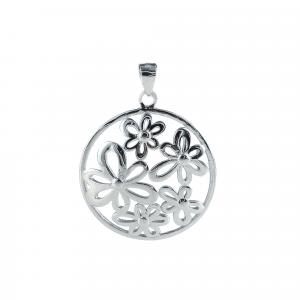 Pandant argint fleur