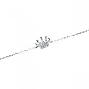 Bratara argint zirconiu crown
