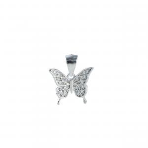 Pandant argint zirconiu butterfly