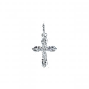Pandant argint zirconiu cross