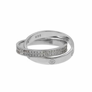 Inel argint dublu - 602919