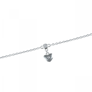 Bratara argint zirconiu inima