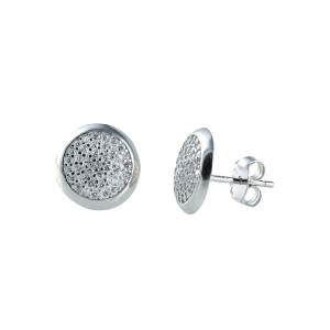 Cercei argint zirconiu classico