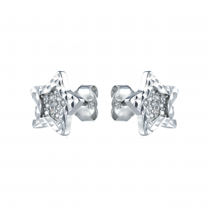 Cercei argint zirconiu stars