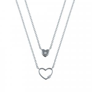 Lant argint zirconiu heart