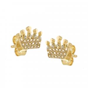 Cercei aur 14K crown