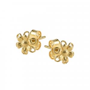 Cercei aur 14K fleur