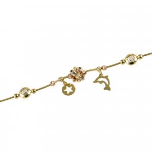 Bratara aur 14K charms