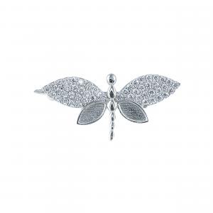 Brosa argint zirconiu butterfly