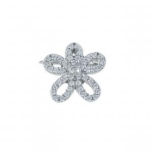 Brosa argint zirconiu fleur