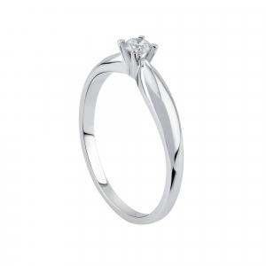 Inel logodna aur 18K cu diamant 0.08 kt