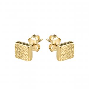 Cercei aur 14K square