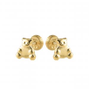 Cercei aur 14K copii teddy bear