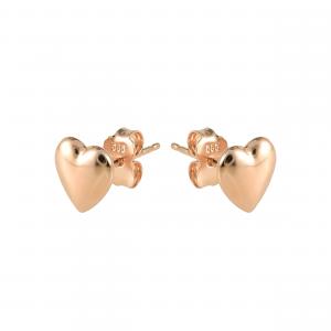 Cercei aur 14K heart