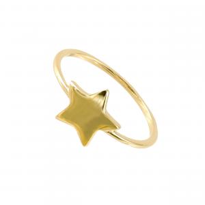 Inel aur 14K star