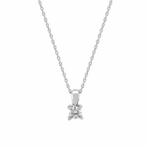 Lant aur 18k cu pandant diamant 0.08 kt