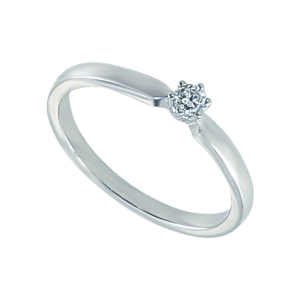 Inel logodna aur 18K cu diamant 0.08 G SI