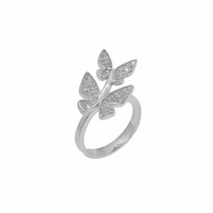 Inel argint fluture pietre zirconiu - 607150