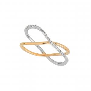 Inel aur 18K cu diamante 0.12 H VS