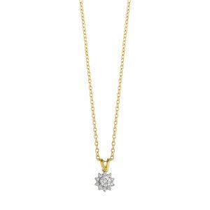 Lant aur 18K cu diamante 0.14 F-G VSSI