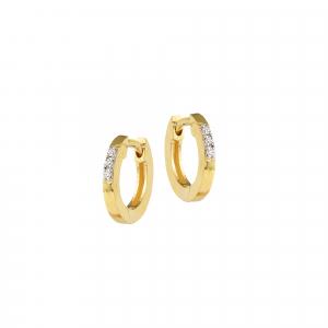 Cercei aur 18K cu diamante 0.18 G VS