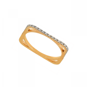 Inel aur 18K cu diamante 0.11 G SI