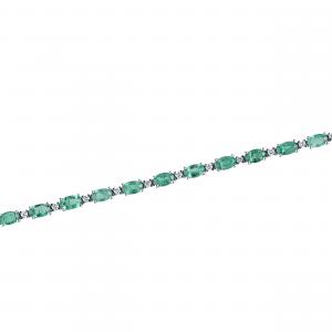 Bratara aur 18K cu diamante si smarald 0.45 H VS SM 6.25