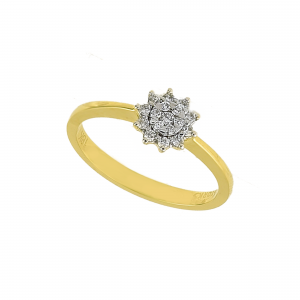 Inel aur 18K cu diamante 0.14 F-G SI