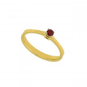 Inel aur 18K cu rubin RU 0.18