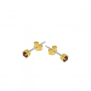 Cercei aur 18K cu rubine 0.37