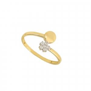 Inel aur 14K floare