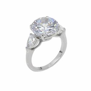 Inel argint logodna pietre zirconiu - 624386