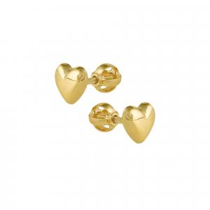 Cercei aur 14k hearts