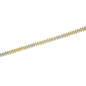 Bratara aur 14K Kocak galben alb  elegant