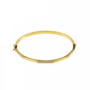 Bratara aur 14K zirconiu elegant fixa