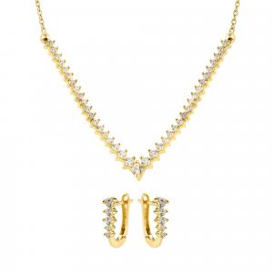 Set aur 14K  zirconiu elegant