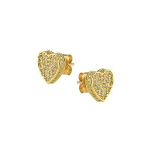 Cercei aur 14K inima