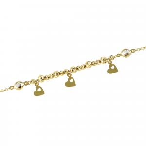 Bratara aur 14k Kocak galben zirconiu elegant bile
