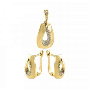 Set aur 14k Anne Gold galben zirconiu elegant
