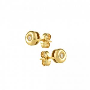 Cercei aur 18K cu diamante 0.2 G VS2