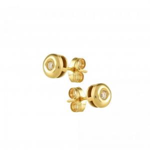 Cercei aur 18K cu diamante 0.07 H SI