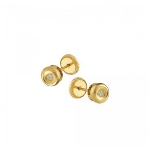 Cercei aur 18K cu diamante 0.03 H SI
