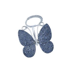 Inel argint zirconiu fluture