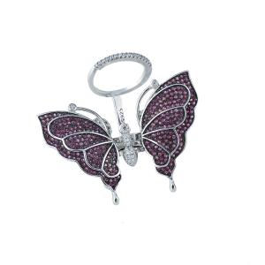 Inel argint zirconiu fluture -  17