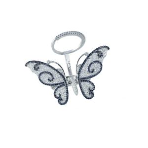 Inel argint zirconiu fluture -  19