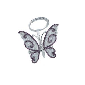 Inel argint zirconiu fluture -  16